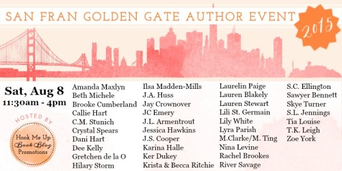 Spotlight – San Fran Golden Gate Author Event (August 8)